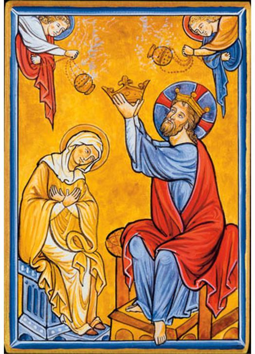 Couronnement de Notre-Dame (Montage plat)