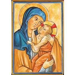 La Virgen María con el Niño Jesús (Montage plat)