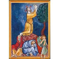 Agonía de Jesús en el huerto de los Olivos (Montage plat)