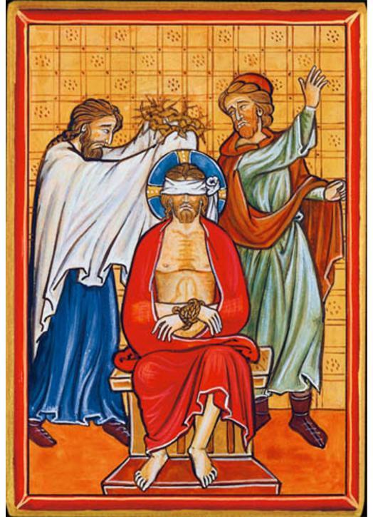 Jesús coronado de espinas (Montage plat)