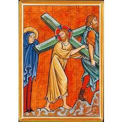 Jesús con la cruz a cuestas (Montage plat)