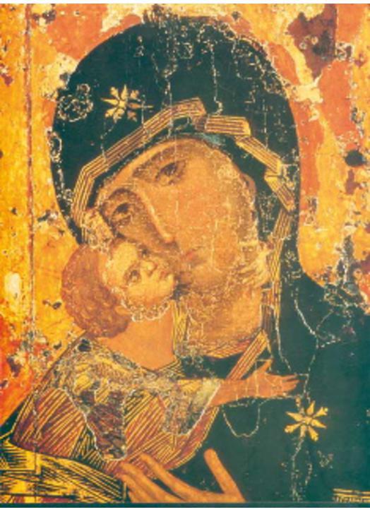 Vierge de Vladimir (détail) (détail) (G, ML, M)