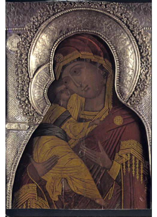 Icône religieuse : Vierge de Vladimir (M)