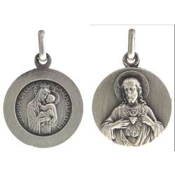 Scapular medal silver-coloured - 18 mm