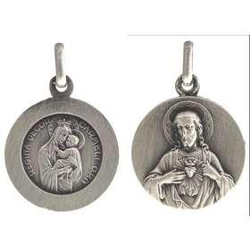 Medalla Escapulario de Ntra. Sra. del Carmen plateada - 18 mm