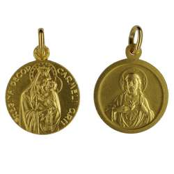Scapular medal gold-coloured metal - 18 mm