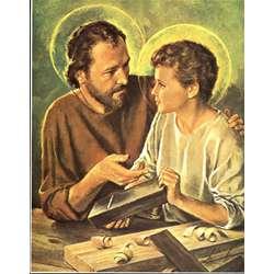 Saint Joseph ouvrier avec l'Enfant Jésus