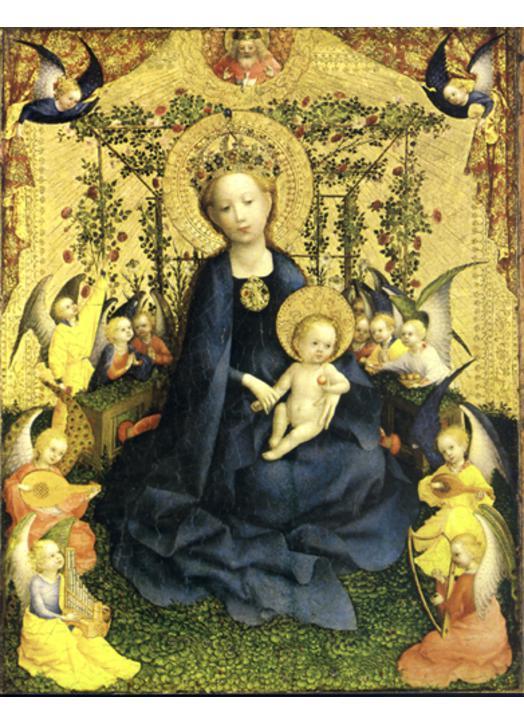La Vierge de la Roseraie