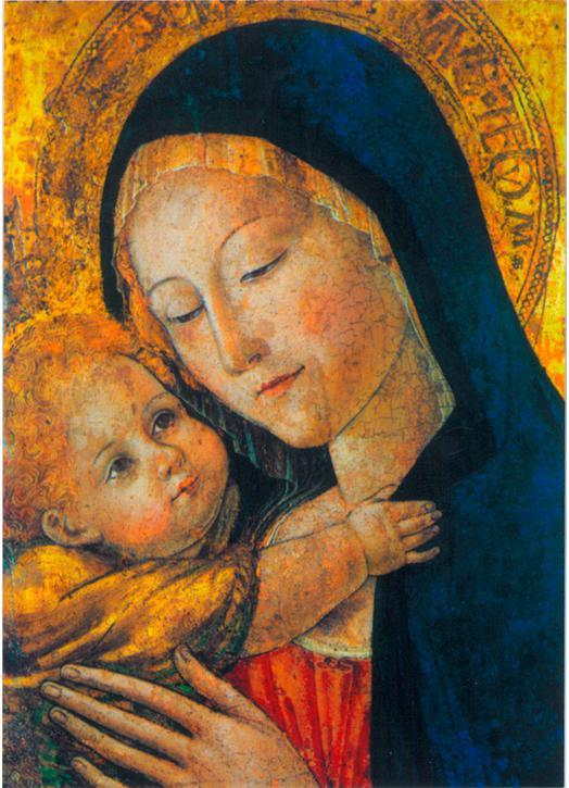 Icono Religioso La Virgen María Con El Niño Jesús Tienda