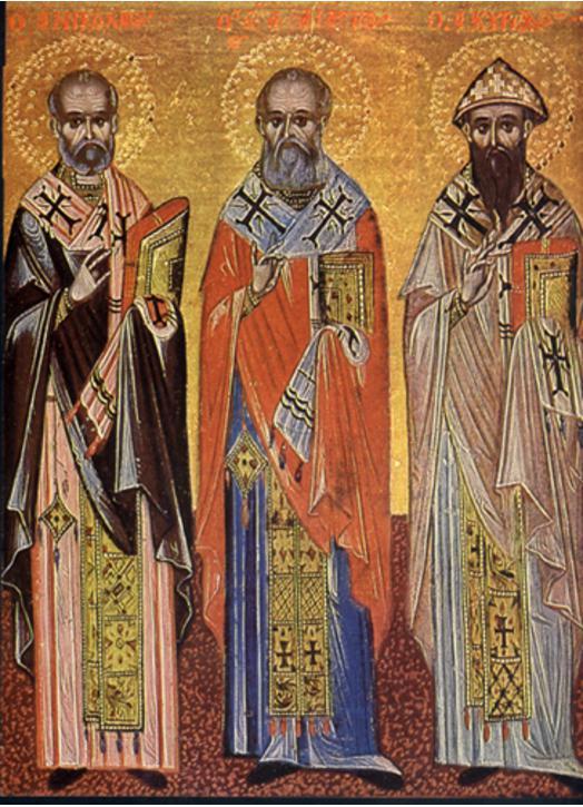 Saints Nicolas, Athanasius and Cyril