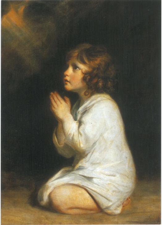 Saint Samuel in prayer