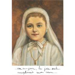 Saint Thérèse on her First Communion day (8 May 1884)