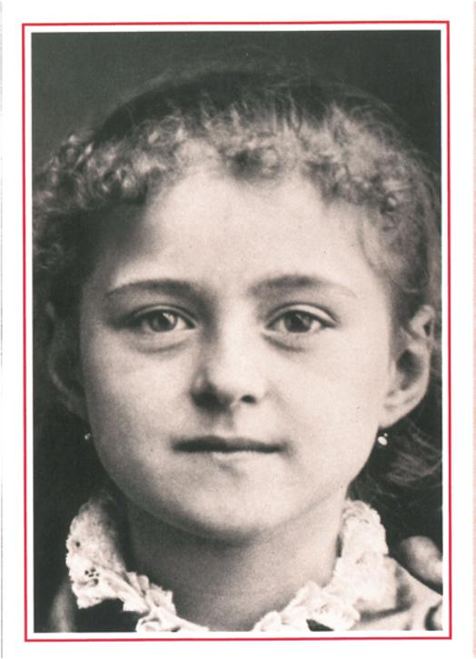 Saint Thérèse of the Child Jesus at eight years.