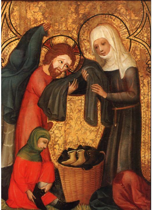 Saint Elisabeth dressing the poor