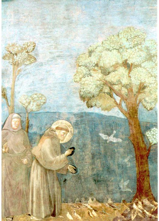 Saint Francis of Assisi preaching to the birds