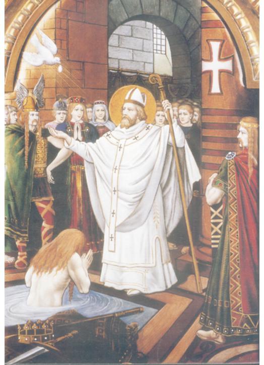 Saint Remigius : the baptism of Clovis
