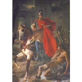 San Martín dando su manto al pobre