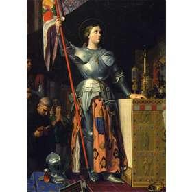 Santa Juana de Arco en la consagración del rei Carlos VII