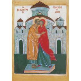 The meeting of St Joachim and St Anne