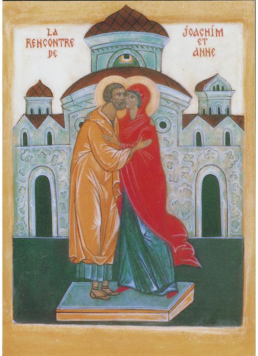 La rencontre de Saint Joachim et Sainte Anne