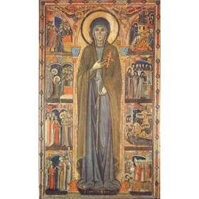 Sainte Claire et scènes de sa vie