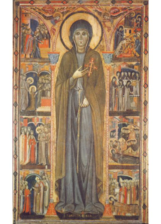 Saint Clare and scenes from her life
