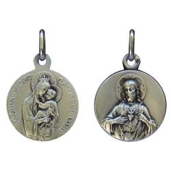 Scapular medal silver plated - 18 mm