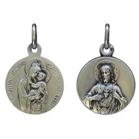 Medalla escapulario plata maciza - 18 mm