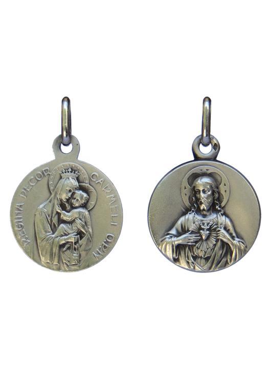 d3303200b medallas : Medalla escapulario plata maciza - 18 mm (Réf. MED081-SCP)