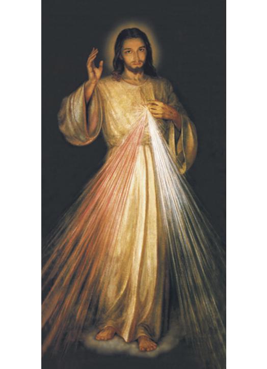 El Jesús de la  Misericordia de Santa Faustina.