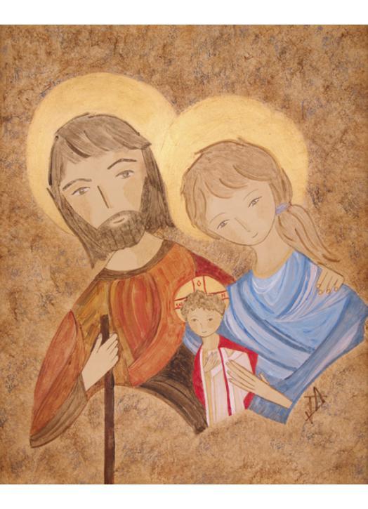 Icône de la Sainte Famille : fuite en Egypte