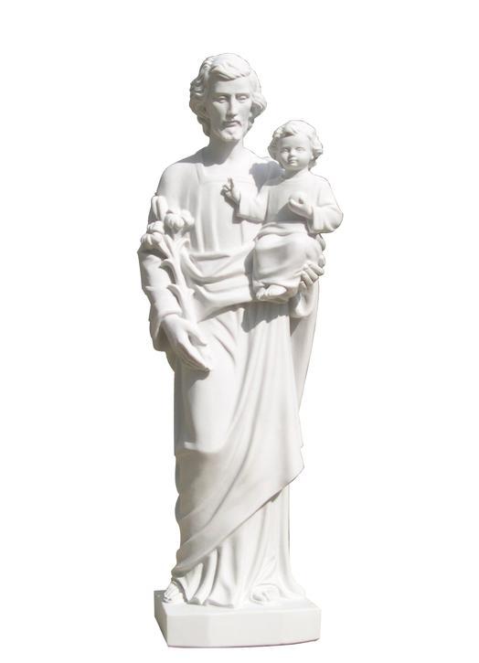 Saint Joseph, 60 cm, Rebuilt marble