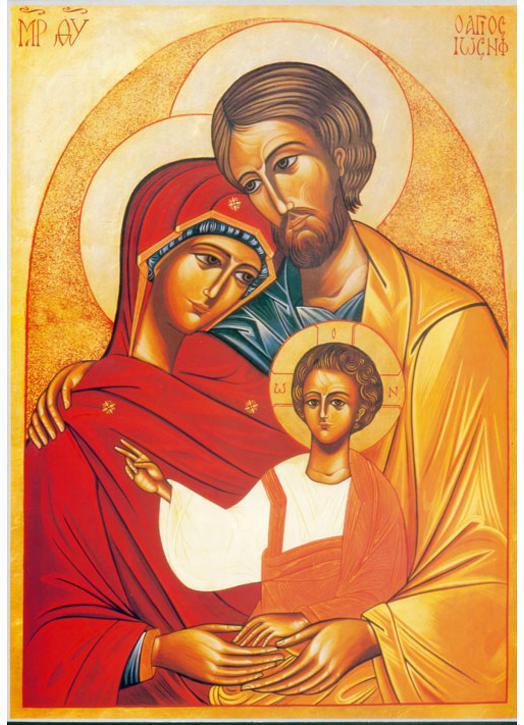 Icone Religieuse icone religieuse de la vierge marie et de la sainte famille