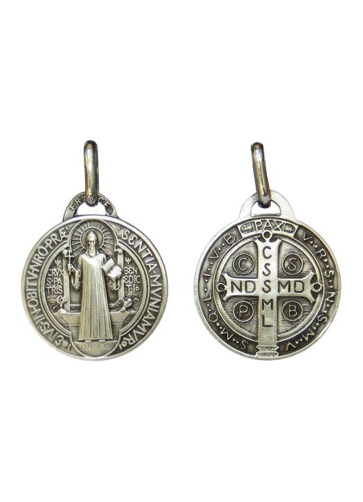 Saint Benedict medal sterling silver - 18 mm