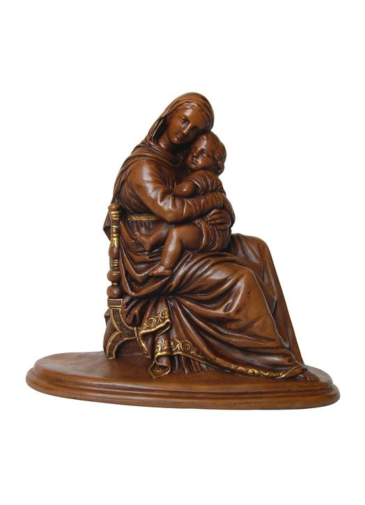Statue de la Vierge assise, 20 cm (Vue de face)