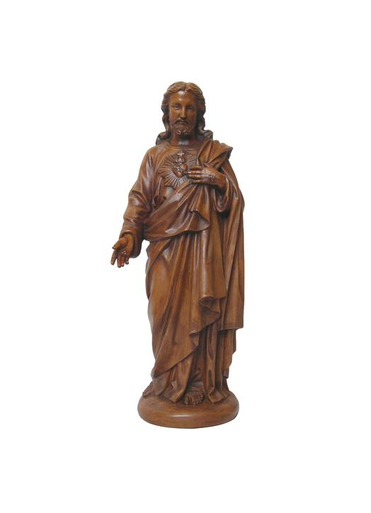 Statue du Sacré-Coeur de Jésus, 45 cm (Vue de face)