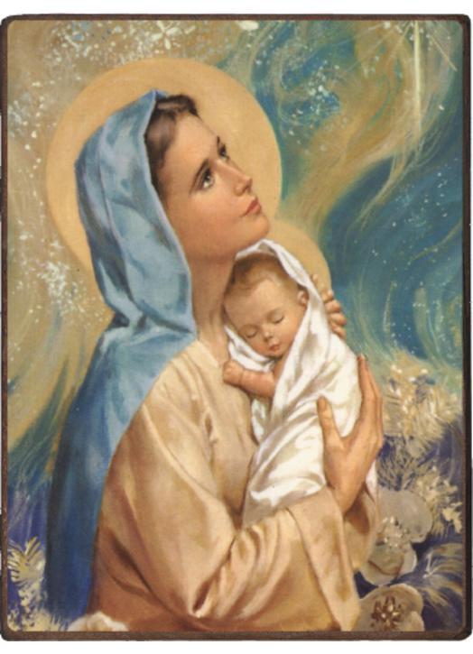 Icono La Virgen María Con El Niño Jesús Productos Monásticos