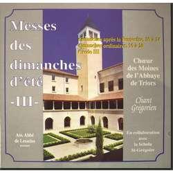Messes des Dimanches d'été III (Triors)