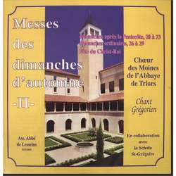 Masses of the Sundays of Autumn II (Triors)