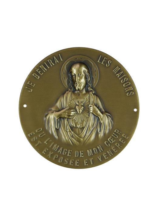 Placa del Sagrado Corazón para puerta