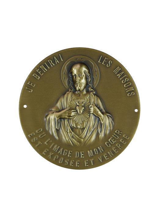 Plaque du Sacré Cœur, pour porte
