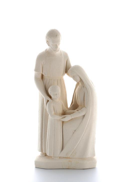 Estatua de la Sagrada Familia, color piedra (Vue de face)