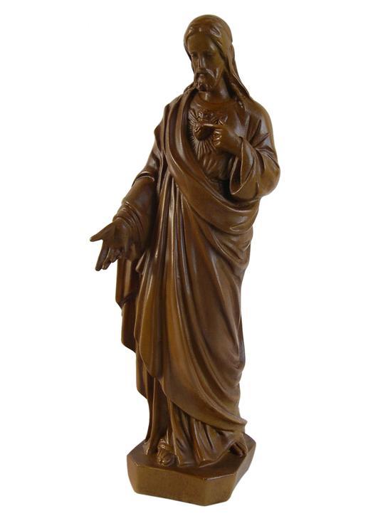 Statue du Sacré-Coeur de Jésus, 20 cm (Vue de face)
