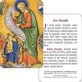 Carte-prière Ave Joseph (Recto-verso)