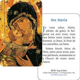 Carte-Prière Vierge de Vladimir (Recto-verso)