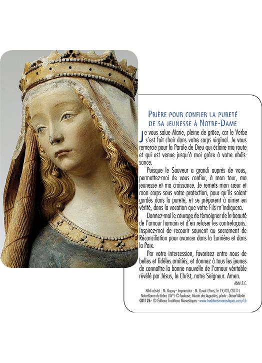 Carte-Prière Notre-Dame de Grâce (Recto-verso)