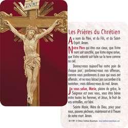 Carte-Prière du Christ en croix (Recto-verso)