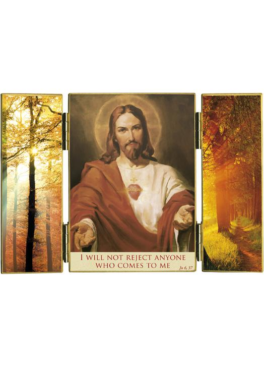The Sacred Heart and light of autumn