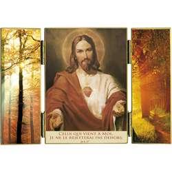 El Sagrado Corazón y luz de otoño