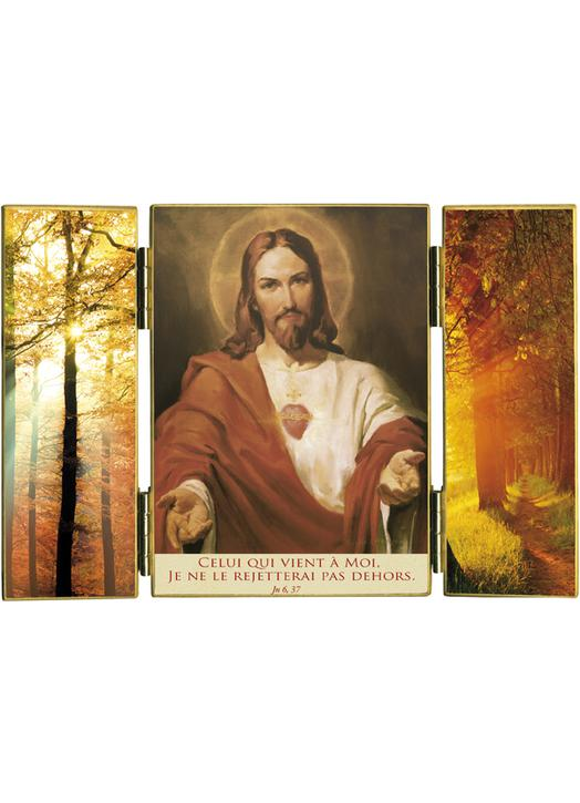 Triptych : The Sacred Heart and light of autumn (Réf. TRT146)